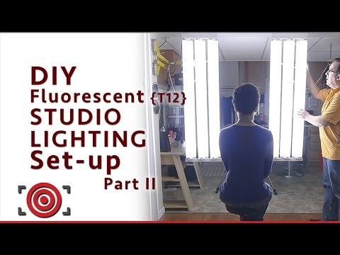 DIY Fluorescent Photography Studio Lighting - Part II