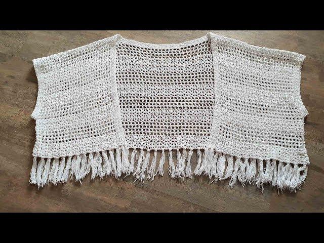 Шикарное вязание крючком.  Обзор.  Белое кимоно