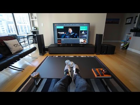Ultimate 4K TV Setup - Tech Living Room Tour
