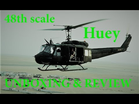 Kitty Hawk UH-1D Huey Helicopter 1:48 Unboxing & Review