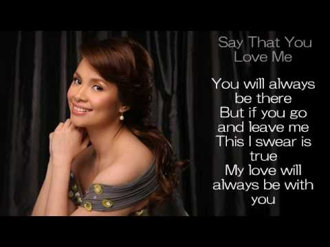 Lea Salonga - When you say that you love me