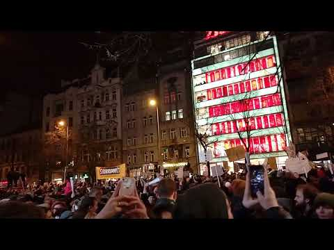 Prague Protests against Babiš 05.03.2018