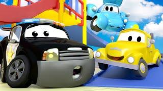 đội xe tuần tra - Special back to school - the fire alarm - Thành phố xe 🚓 🚒 phim hoạt hình về