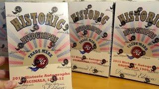 2015 Historic Autographs Originals, 1909-12 - Case Break #2! Diamond Edition