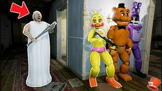 CAN THE ANIMATRONICS HIDE FROM GRANNY? (GTA 5 Mods For Kids FNAF RedHatter)
