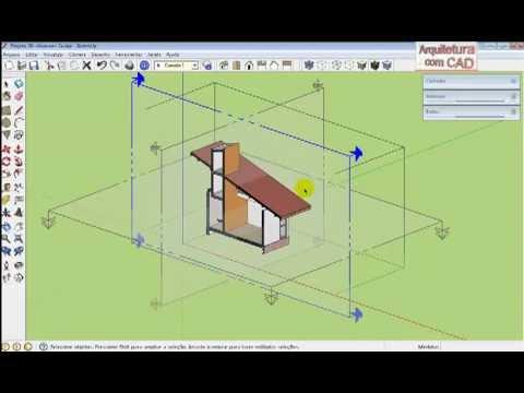 Sketchup para autocad modelar usar componentes e for Mobilia para sketchup 8