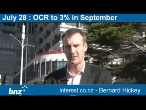 Economic Weather Report : OCR to 3% in September (news with Bernard Hickey)