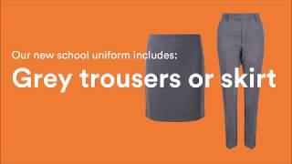 Our new school uniform!