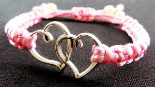 super easy and cool macrame bracelet - jewelry making tutorial – howto / diy (easy)