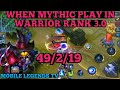 WHEN MYTHIC PLAY IN WARRIOR RANK   CYCLOPS BEST BUILD   MOBILE LEGENDS CYCLOPS