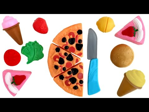 Deluxe Slice and Play Food Set Just Like Home Playset Cooking Toy Cutting Fruits Kitchen Toy Food