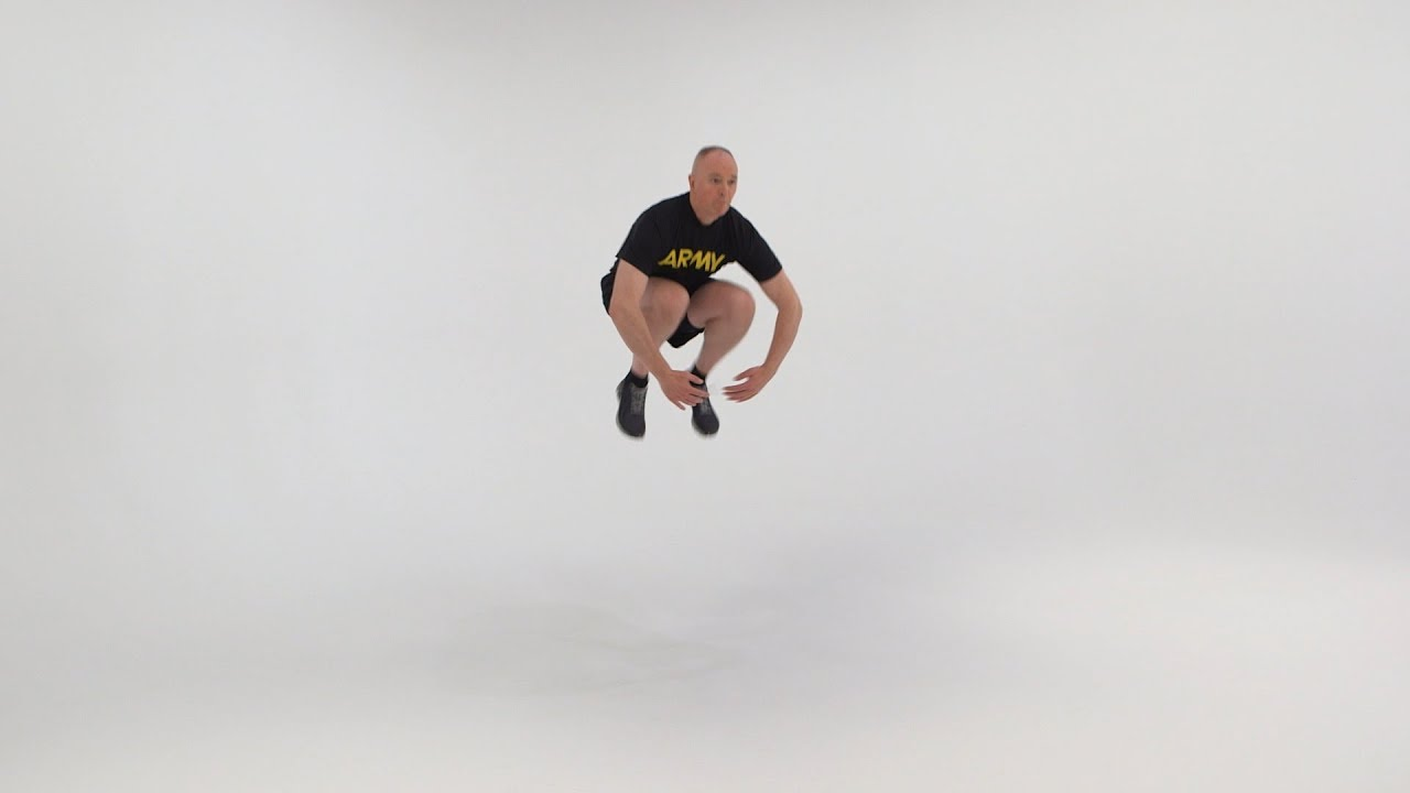 This exercise develops explosive strength in the legs. Here is the breakdown of the exercise conducted at formation at a slow cadence. #ACFT #ArmyFit