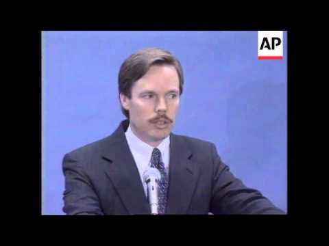 USA: NICHOLAS BURNS BOSNIA PEACE TALKS PRESS CONFERENCE