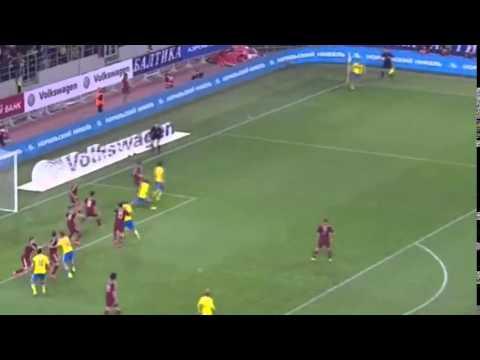 РОССИЯ - ШВЕЦИЯ 1 - 0 Квалификация Евро 2016 Обзор матча 05.09.2015