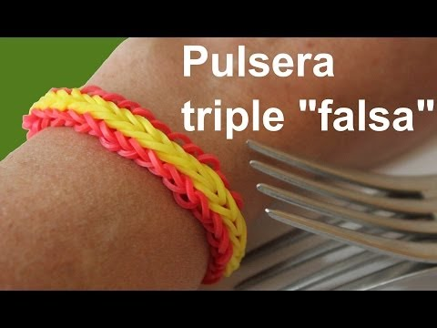 Pulsera de gomitas triple falsa