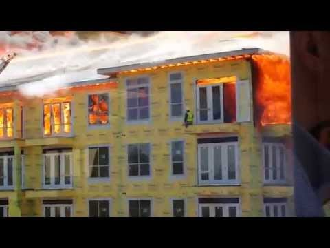 Trapped Man Rescued from Massive Houston, TX Apartment Fire