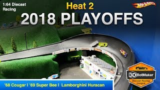 2018 Playoffs Heat 2 - 3DBotMaker Hot Wheels Diecast Racing
