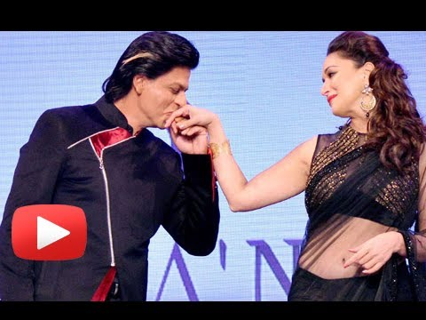 Shah Rukh Khan Romances With Madhuri, Katrina, Anushka, Rani At Yash Chopra Birthday 2013 video