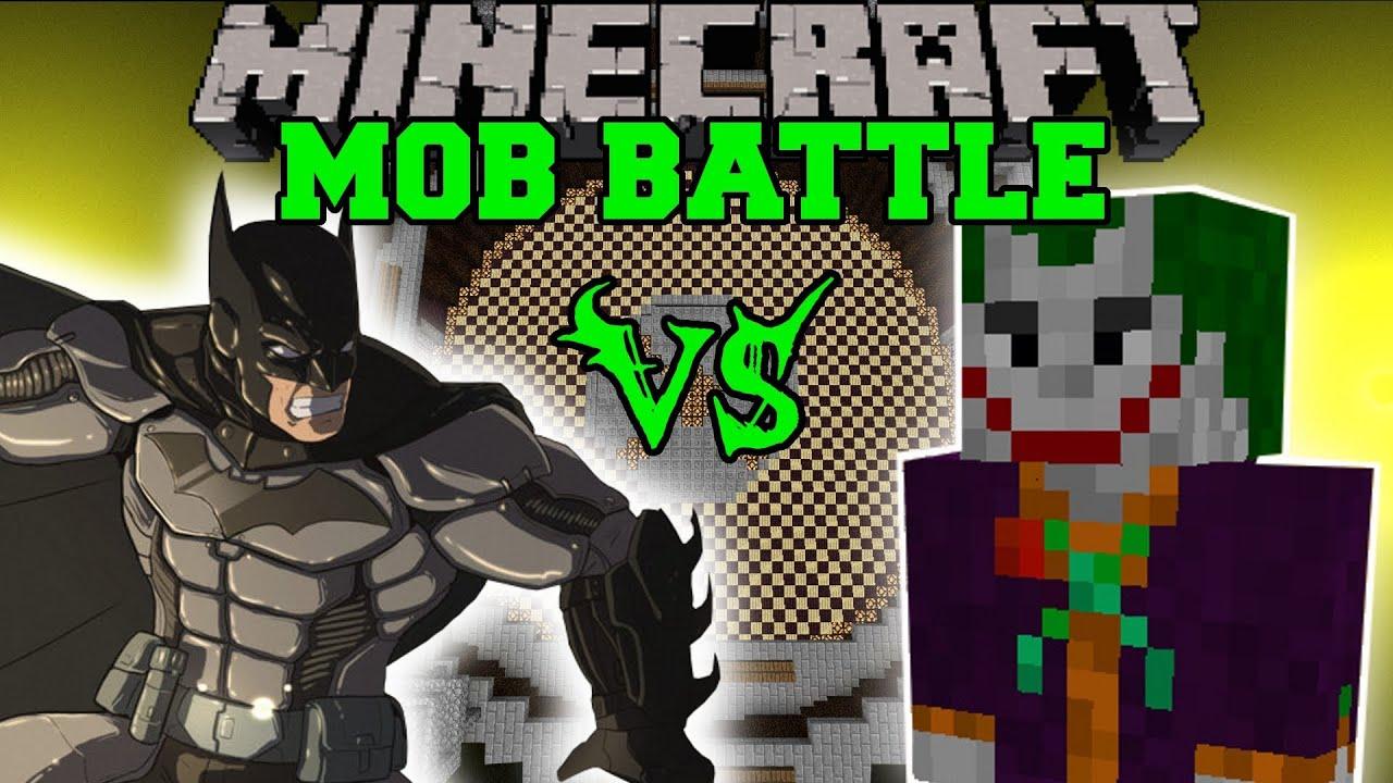 Minecraft Batman Vs Joker