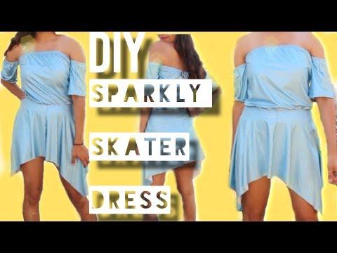 DIY SPARKLY SKATER DRESS