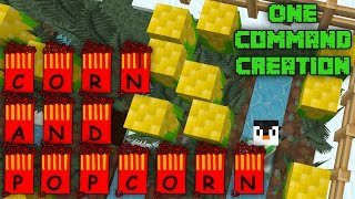 CORN and POPCORN | 1.9 One Command Block Creation: Minecraft