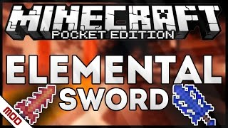 [0.14.0/0.15.0] ELEMENTAL SWORD MOD - MINECRAFT PE
