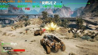 Rage 2 Benchmark -  I7 7700 + GTX 1050 Ti + 16G RAM + HDD