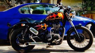 Royal Enfield Thunderbird modified | Bike modification  | Vampvideo |
