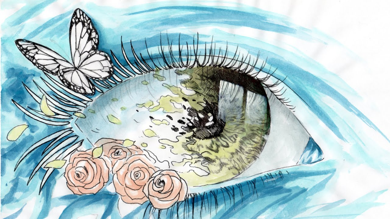 Come Disegnare Un Occhio Rosa Farfalla Fantasy How To