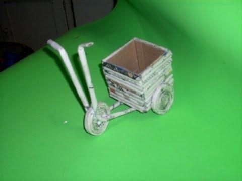 Manualidades de reciclaje: Triciclo día del padre // Father day