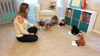 How to make flash cards fun with Caden and Brielle! (Caden 22 months Brielle 6)