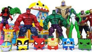 Hulk & She-Hulk Transformation! Defeat Thanos! Avengers Go~! Iron Man, Spider-Man, Captain America