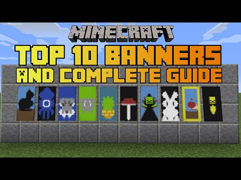 Minecraft top 10 banner designs With tutorial