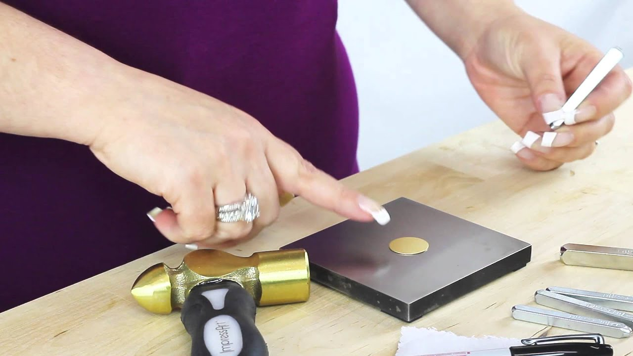 Metal jewelry stamping basics pj tool jewelry youtube for How to make hand stamped jewelry