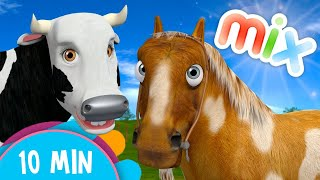 Cow's and Horses Songs Mix - The Farm's Songs for Kids   The Children´s Kingdom