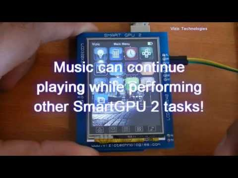 SmartGPU 2-Graphics. Audio. Touch and Full Datalogger - Arduino IPOD like GUI