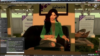 Live Presentation by Alicia Chenaux for the Blogger & Vlogger Network in Second Life
