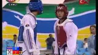 2007 world taekwondo championship 54 kg Final (KOR) vs (THA)
