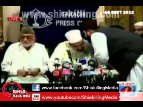 Members of Muttahida Bainul Muslimeen forum talk to media