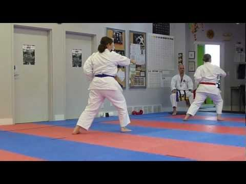 Shotokan Karate: Kata - Heian Shodan, Women's Black Belts - Charleswood Vs Charleswood Idsl 2012 video