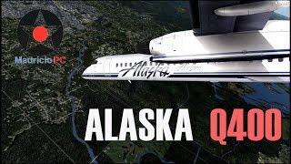 Alaska Horizon Dash 8 Fligh Recreation with audio