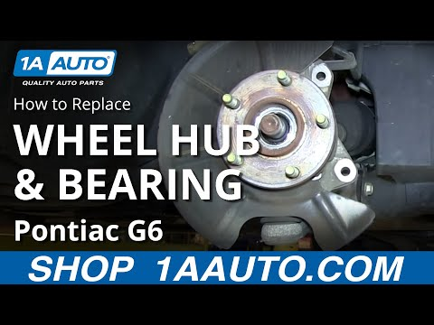 How To Install Replace Front Wheel Hub Bearing Pontiac G6 Saturn Aura