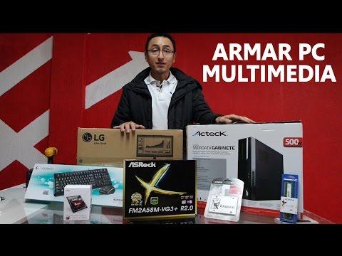 Cómo armar una pc escritorio Multimedia con AMD A4 y AsRock