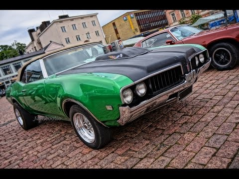 Supercharged 1969 Oldsmobile Cutlass - brutal V8 sound!! Music Videos