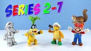 World of Nintendo Series 2-7 Super Metal Mario Raccoon Iggy & Hammer Bro Toy Figures