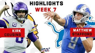 Kirk Cousins & Matthew Stafford QB Battle | NFL 2019 Highlights
