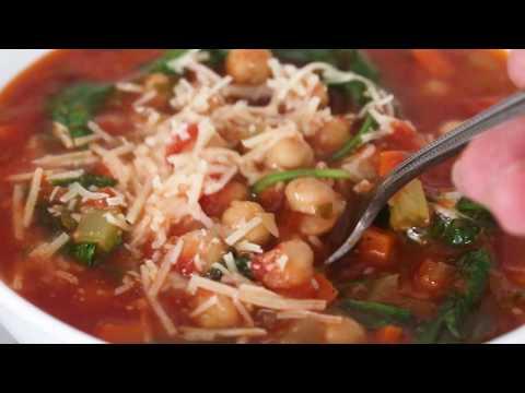 Chickpea Tomato Soup Recipe