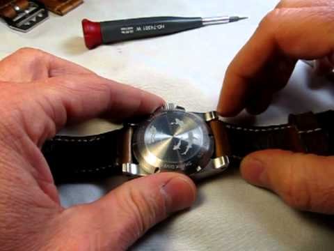 How to change out a watch strap with spring bars (TheStrapSmith)