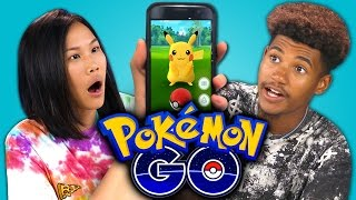 TEENS REACT TO POKEMON GO (APP)