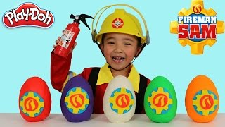 Fireman Sam Play-Doh Surprise Eggs Opening Fun With Ckn Toys